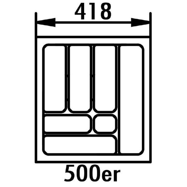lijntekening bestekbak 50 cm
