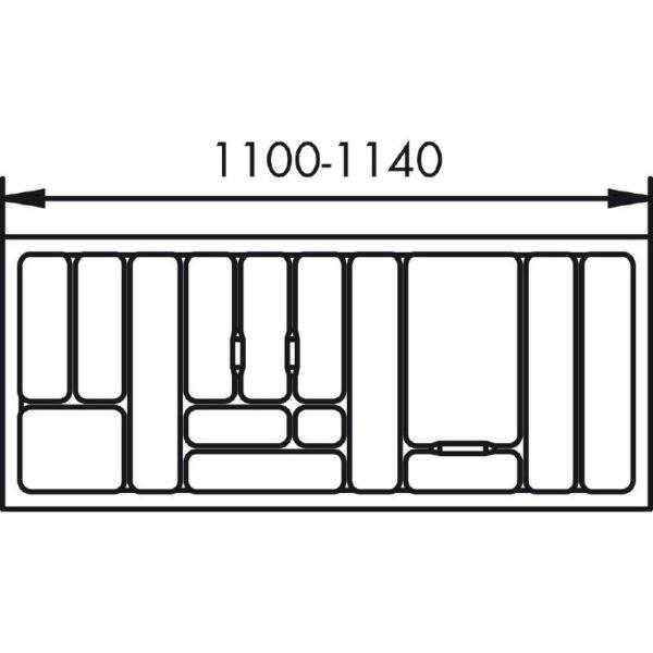 lijntekening bestekbak 120 cm
