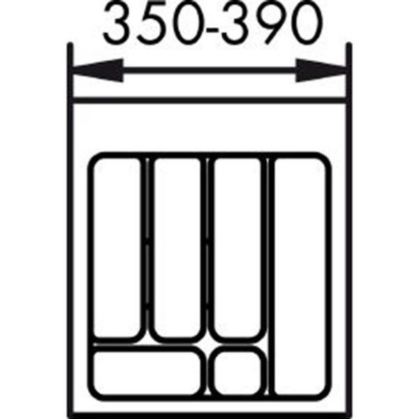 lijntekening bestekbak 45 cm