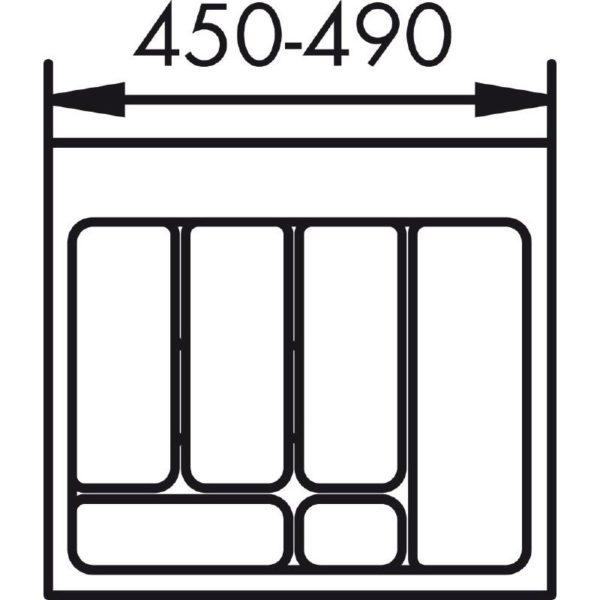 lijntekening bestekbak 55 cm