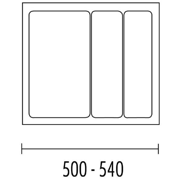 lijntekening universel 60 cm
