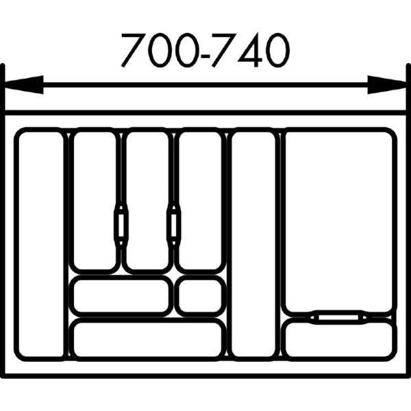 lijntekening bestekbak 80 cm