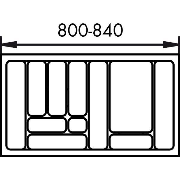 lijntekening bestekbak 90 cm