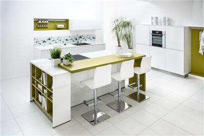 Groen witte keuken
