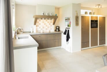 landelijk wit/hout keuken