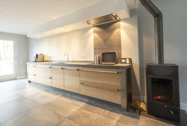 modern hout/beton keuken
